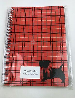 Vera Bradley Scottie Dogs Mini Notebook With Pocket #22914-655  - NWT