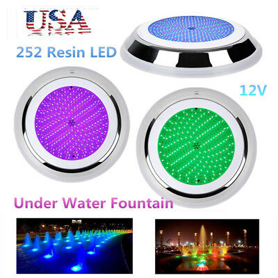 252 Resin LED Swimming Pool Light 18W RGB Underwater Fountain Lighting 12V USA