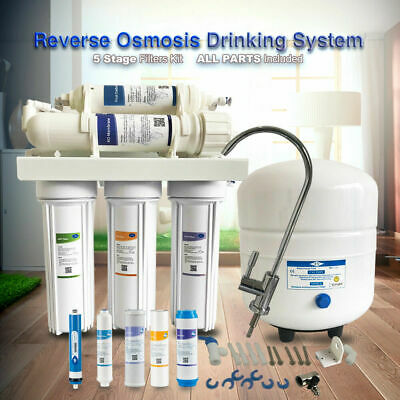 5-Stage Undersink Water Filter System Reverse Osmosis Filtration 50 GPD Drinking
