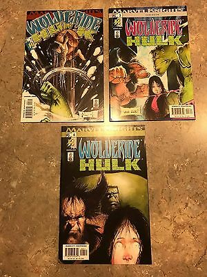 Wolverine Hulk # 2 3 4 (of 4) Near Complete (2002 Marvel Knights) VF/NM to NM