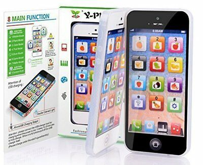 Baby YPhone Simulator Cell Phone Touch Screen Music Learning Child Kid Toy Gift