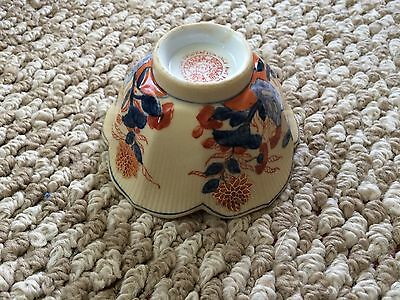 Vintage Japanese Porcelain Ware Bowl TFF hand painted with gold trim Hong Kong