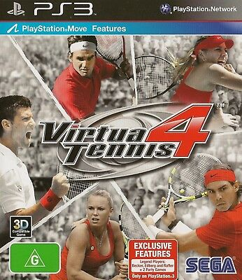 PLaystation 3 Vitua Tennis 4 Game Brand New Sealed PS3
