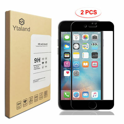 2Pcs 3D Curved Full Cover Tempered Glass Screen Protector For iPhone 6 / 7 / 8 X