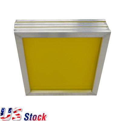 "US 6 pcs -20"" x 24"" Aluminum Screen Printing Screens with 200 Yellow Mesh Count"