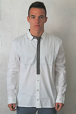 Man Shirt White M& François Girbaud Barkeep Size 48(XL) New Label