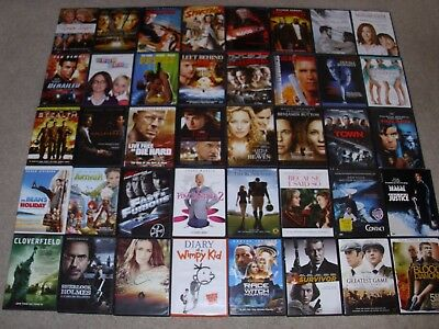 LOT OF (40)  MOVIE DVDs. ACTION, COMEDY, DRAMA & MORE. VERY GOOD.