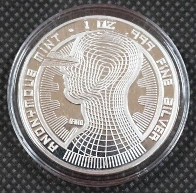 Bitcoin Guardian Commemorative 1 oz .999 Silver Proof Round Capsuled Coin W/ COA