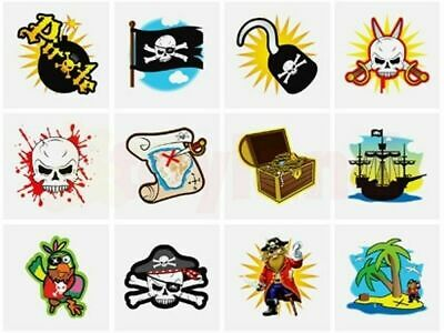 24 x PIRATE Temporary Tattoos Boys Children's Party Loot Bag Fillers