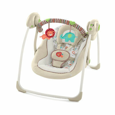 Baby Portable Swing Infant Seat Rocker Toddler Chair Cradle Bouncer 2 Plush  Toys