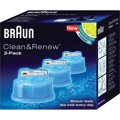 Braun Shavers Clean & Renew Refill Cartridges CCR3 Shaver Head & Blades Cleaner