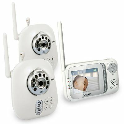 VTech VM321-2 Safe & Sound Video Baby Monitor with Night Vision and Two Cameras