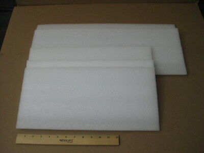 """5 x White Polyethylene Packing Shipping Foam Sheets ( 3/8"""" thickness)"""