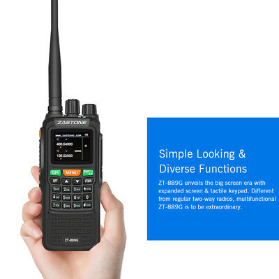 Zastone ZT889G GPS 10W Walkie Talkie Two Way Radio VHF/UHF Handheld For Hunting