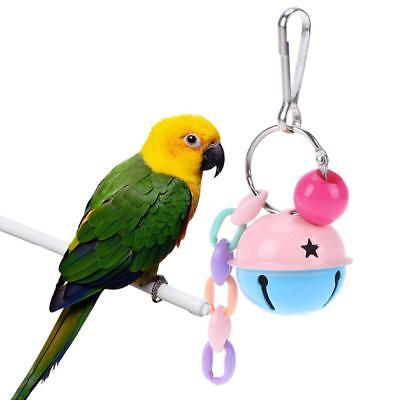 Pet Bird Toy Double Color Bell Ball Interactive Foot Toys Parakeet Budgie Parrot