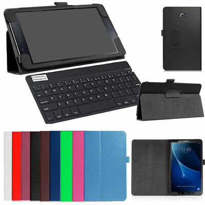 AU For Samsung Galaxy Tab A A6 7-10 Tablet Leather Cover Case Bluetooth Keyboard