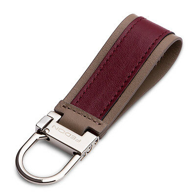 NEW Fedon Snap Hook Keyring Bordeaux/Brown