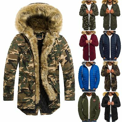 OZONEE HERREN WINTERJACKE Parka Jacke Wärmejacke Wintermantel OUTLET SALE MIX
