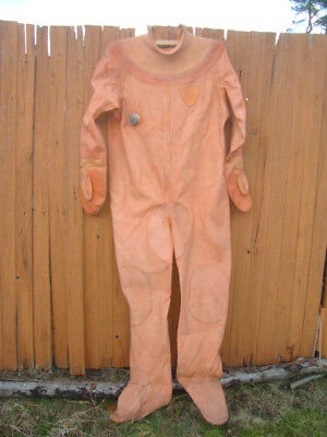 Diving suit for russian 3-bolt diving helmet  with  air valve