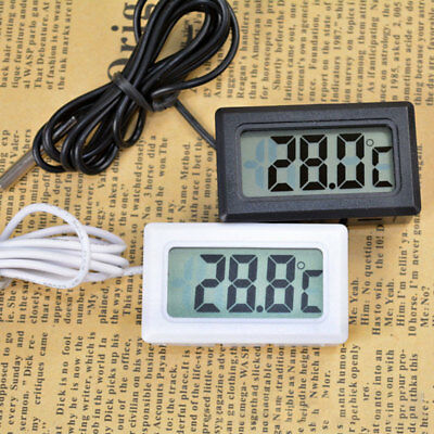 Digital LCD Fisch Aquarium Wasser Temperatur Thermometer Sensor Messergerät