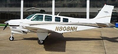 1993 A36  650Hr Sfnew Eng  All Glass Waas Adsb In/out Mfd Wx Traffic Charts