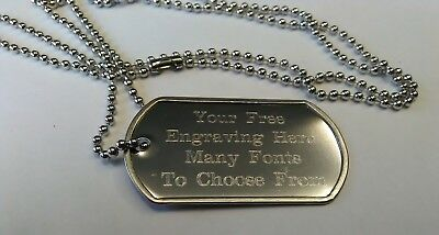 Personalised-Metal-Army-Dog-Tags-ID-Tag-Necklace-Engraved-Free-Wedding-Gift
