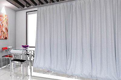 Blockout Curtains 540x230cm PINCH PLEAT 2 panel Blackout High Level Fabric New