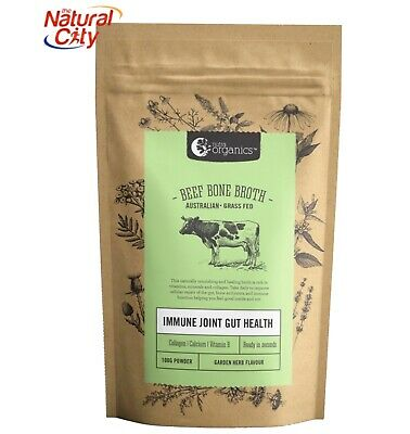 NUTRA ORGANICS ORG GRASS FED BEEF BONE BROTH POWDER 100g-Garden Herb-Free Sample