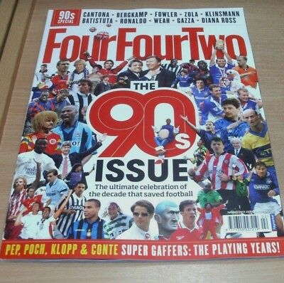 442 Four Four Two magazine FEB 2018 The 90s Special Issue, Cantona Fowler Zola &