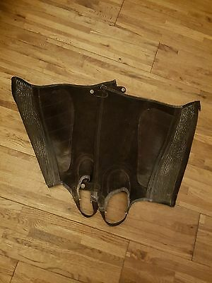Brown Suede Half Chaps XL