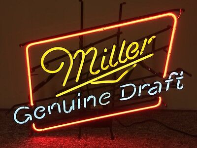 Miller Genuine Draft Neon Sign Great Condition Perfect Working Order