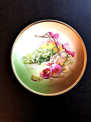 """Royal Munich Z.S. & Co Bavaria Vintage Hand Painted  8 3/8"""" Plate with Fruit"""