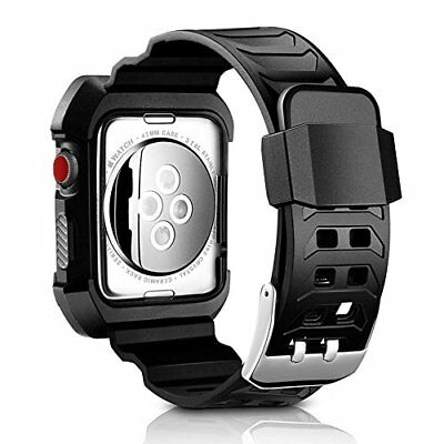 iWatch Band 42mm Rugged Apple Watch Case Series 3 2 1 Protective Sport Black New