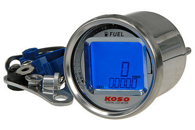 Koso Tacho KOSO Digital LCD SPEED / ODO / FUEL d.55x57mm blau beleuchtet 100 /