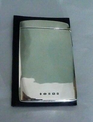 Contemporary English Sterling Silver Card Case by Carrs of Sheffield