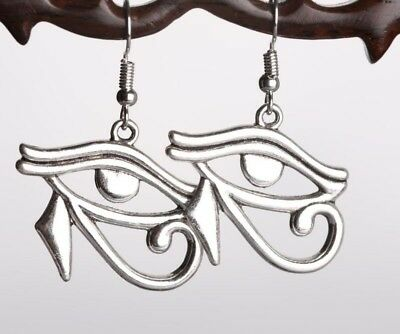 Ancient Egypt Style The Eye of Horus Pendant Punk Metal Chain Eye Earrings