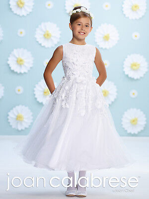 607d49553 NEW Girl's Joan Calabrese FANCY White FIRST COMMUNION Dress Size 8 116387