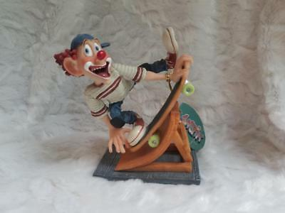 SlapStix Chairman of the Board Figurine - Clown on a Skateboard 04139 (No Box)