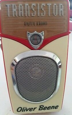 OLIVER BEENE TRANSISTOR RADIO AM/FM Radio AUDIO COLLECTIBLE