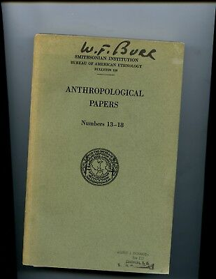 Smithsonian Anthropological Papers 1941 Iroquois Creek Cherokee Chitimacha Maps!