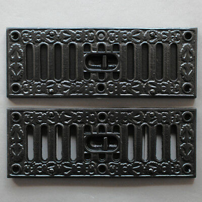 "SOLID CAST BLACK AIR VENT VICTORIAN ANTIQUE HIT & MISS KENRICK 9x3"" ~ AV03bl"