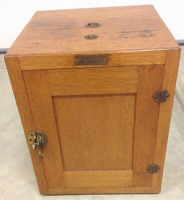 CS & E  Co. Vintage Incubator Oak Antique Medical