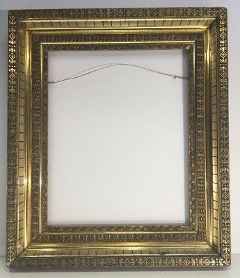 Antique Aesthetic Movement Victorian Orig Gold Gilded Picture Frame Fits 15x18