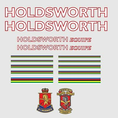 07322 Holdsworth Professional Bicycle Stickers Transfers Decals