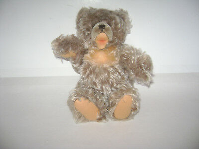 "Vintage Steiff? Jointed Teddy Bear Silky Mohair Stuffed Plush 11"" Very Rare"