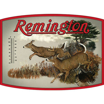 Open Road Brands 90153325  Thermometer Tin Sign Remington Whitetail
