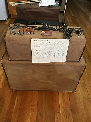 """1962 Fender Tremolux Blonde Amp Top & 2 10"""" Factory Matched Cabinet Wheat Grill"""