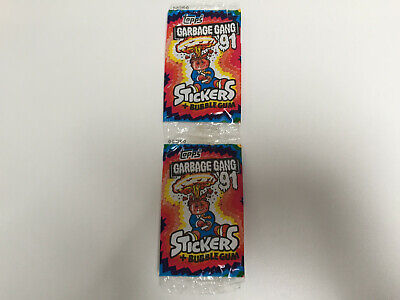 1990 UK Garbage Pail Kids Garbage Gang '91 WRAPPER (0-313-0-0)