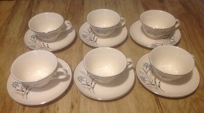 6 Vintage Taylor Smith & Taylor Versatile Cups & Saucers