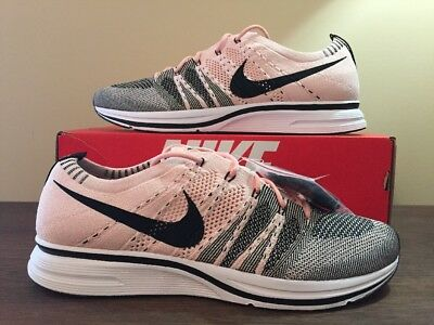df548571197f Nike Flyknit Trainer Ah8396-600 Sunset Tint Pink Black White Ds Size  11.5